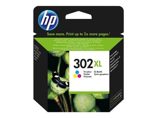 HP 302XL - F6U67AE - 1 x Yellow,1 x Cyan,1 x Magenta - Ink cartridge - High Yield - Blister - For Officejet 3830