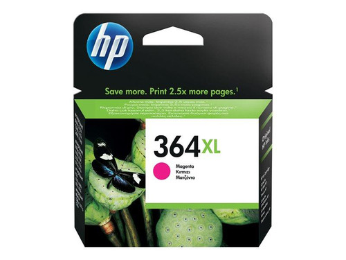 HP 364XL - CB324EE - 1 x Magenta - Ink cartridge - High Yield - For Deskjet 35XX, Photosmart 55XX, 55XX B111, 65XX, 65XX B211, 7510 C311, 7520, eStation C510