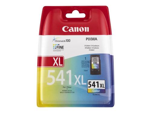Canon CL-541XL - 5226B005 - 1 x Cyan,1 x Magenta,1 x Yellow - High Yield - Ink Cartridge - For PIXMA MG2250,MG3150,MG3250,MG3510,MG3550,MG4250,MX395,MX455,MX475,MX525,MX535