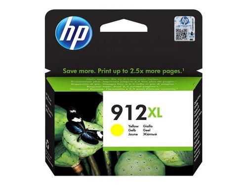 HP 912XL - 9.9 ml - High Yield - yellow - original - ink cartridge - for Officejet 80XX, Officejet Pro 80XX