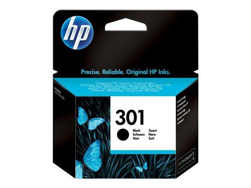 HP 301 - Black - original - ink cartridge - for Deskjet 1050A J410, 1051A J410, 10XX, 10XX J410, 15XX, 2000, 2050 J510, 2050A J510