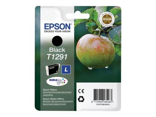 Epson T1291 - 11.2 ml - L size - black - original - blister - ink cartridge - for Stylus SX230, SX235, SX430, SX438, WorkForce WF-3010, 3520, 3530, 3540, 7015, 7515, 7525