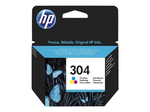 HP 304 - Colour (cyan, magenta, yellow) - original - ink cartridge - for AMP 130, Deskjet 26XX, 37XX, Envy 50XX