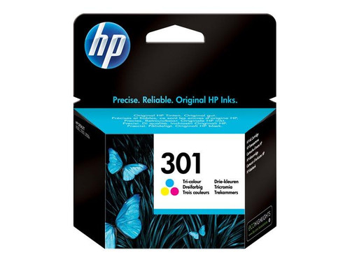 HP 301 - CH562EE - 1 x Yellow,1 x Cyan,1 x Magenta - Ink cartridge - For Deskjet 1000, 1010, 1050 J410, 1050A J410,1055 J410, 1056 J410, 1510, 1512, 1513, 2000, 2050 J510, 2050A J510, 2054A J510, 2510, 2544, Envy 4502, 5530, Officejet 2620, 2622
