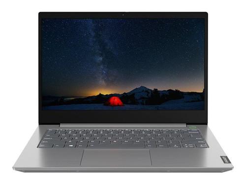 """Lenovo ThinkBook 14-IIL 20SL - Core i5 1035G1 / 1 GHz - Win 10 Pro 64-bit - 8 GB RAM - 256 GB SSD NVMe - 14"""" IPS 1920 x 1080 (Full HD) - UHD Graphics - Bluetooth, Wi-Fi - mineral grey - kbd: UK"""