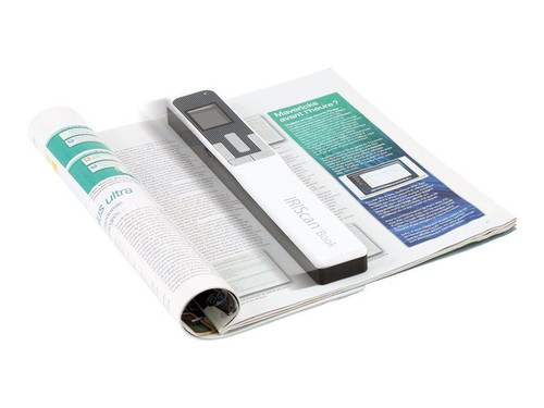 IRIScan Book 5 White - 30PPM Scan anything, anywhere. No computer needed. Battery Powered Book/Document Scanner.