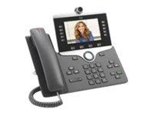 Cisco IP Phone 8865 - IP video phone - with digital camera, Bluetooth interface - IEEE 802.11a/b/g/n/ac (Wi-Fi) - SIP, SDP - 5 lines - charcoal