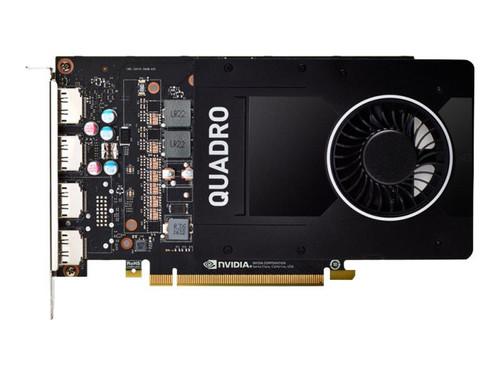 NVIDIA Quadro P2200 - Graphics card - Quadro P2200 - 5 GB GDDR5X - PCIe 3.0 x16 - 4 x DisplayPort - retail