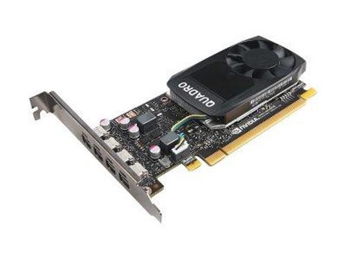 NVIDIA Quadro P1000 - Graphics card - Quadro P1000 - 4 GB GDDR5 - PCIe 3.0 x16 - 4 x Mini DisplayPort - for ThinkStation P320, P330, P330 (2nd Gen), P410, P510, P520, P520c, P710, P720, P910, P920