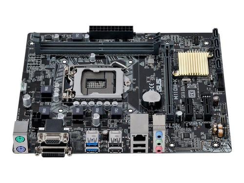 ASUS H110M-K - Motherboard - micro ATX - LGA1151 Socket - H110 - USB 3.0 - Gigabit LAN - onboard graphics (CPU required) - HD Audio (8-channel)