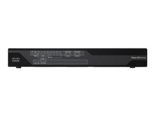 Cisco 897VA - Router - DSL modem - 8-port switch - GigE - WAN ports: 3 - refurbished