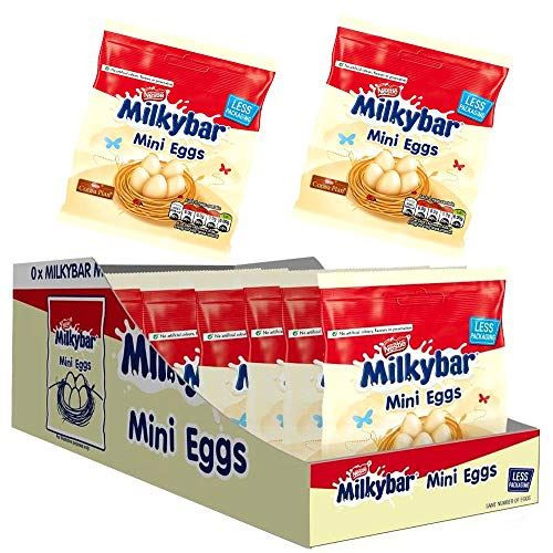 Nestle MILKYBAR Mini Eggs Chocolate Pouch - Pack of 12 x 80g Full Box