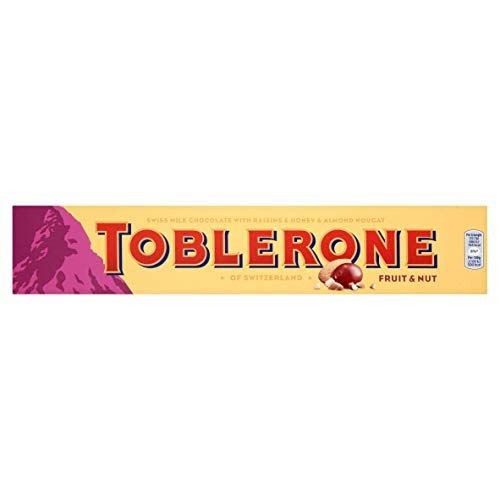 Toblerone Fruit and Nut Milk Chocolate Bar 360 g (Pack of 10)