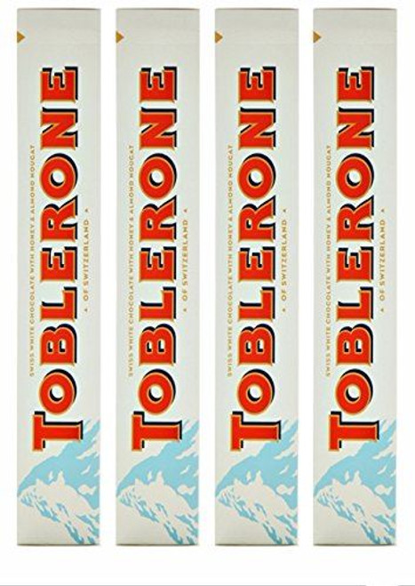Pack of 4 - Toblerone White Chocolate 360g each