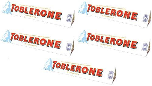 Pack of 5 - Toblerone Large White Chocolate Bar - 360g Each