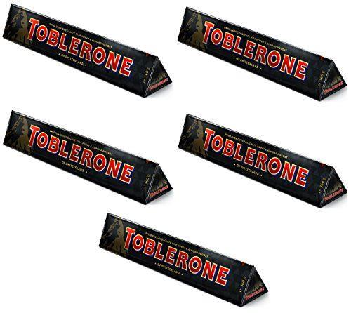 Toblerone Large Dark Chocolate Bar, 360g - Pack of 5