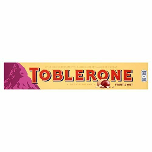 Toblerone Fruit and Nut Milk Chocolate Bar 360 g (Pack of 2)