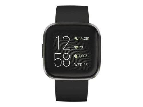 Fitbit Versa 2 - Carbon - smart watch with band - silicone - black