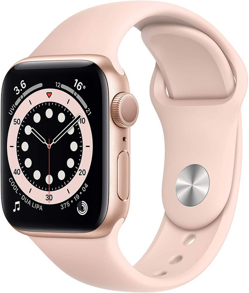 Smartwatch Apple Watch 6 40mm Gold Aluminium Case with Pink Sand Sport Band
