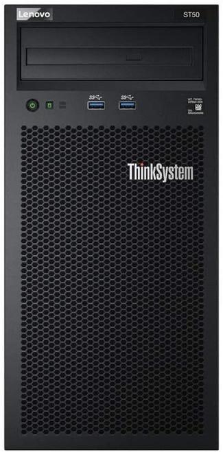 Lenovo ThinkSystem ST50 7Y48 - Server - tower - 4U - 1-way - 1 x Xeon E-2224G / 3.5 GHz - RAM 8 GB - HDD 2 x 1 TB - DVD-Writer - UHD Graphics P630 - GigE - no OS - monitor: none