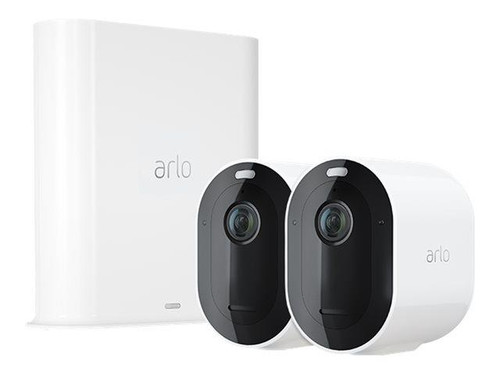 Arlo Pro 3 Wire-Free Security Camera System - Gateway + camera(s) - wireless - 802.11b, 802.11g, 802.11n - 2 camera(s) - white