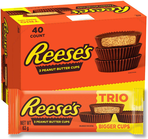 40 x Reese's Trio Peanut Butter Cups 63g