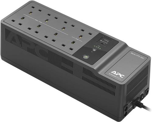 APC Back-UPS BE850G2 - UPS - AC 230 V - 520 Watt - 850 VA - output connectors: 8 - United Kingdom - black