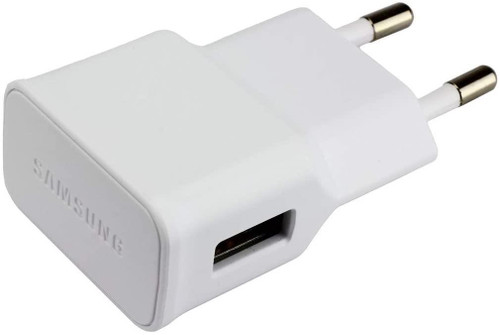 SAMSUNG GALAXY Original Charger Adaptor 1A + 1.5MCable Micro USB - WHITE - EU