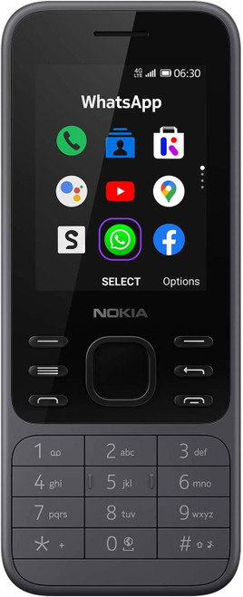 Nokia 6300 with WhatsApp & Google Assistant 4G Dual Sim - Charcoal