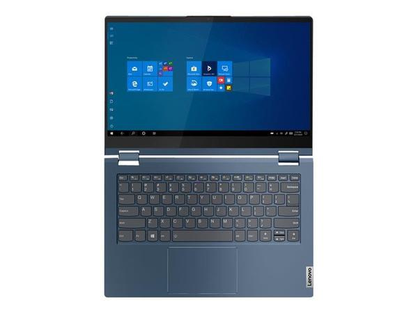 "Lenovo ThinkBook 14s Yoga ITL 20WE - Flip design - Core i7 1165G7 / 2.8 GHz - Win 10 Pro 64-bit - 16 GB RAM - 512 GB SSD NVMe - 14"" IPS touchscreen 1920 x 1080 (Full HD) - Iris Xe Graphics - Wi-Fi 6, Bluetooth - abyss blue - kbd: UK"