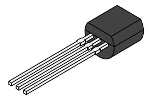 2N3703 ; Transistor PNP 50V 0.5A 625mW 100MHz, TO-92 ECB