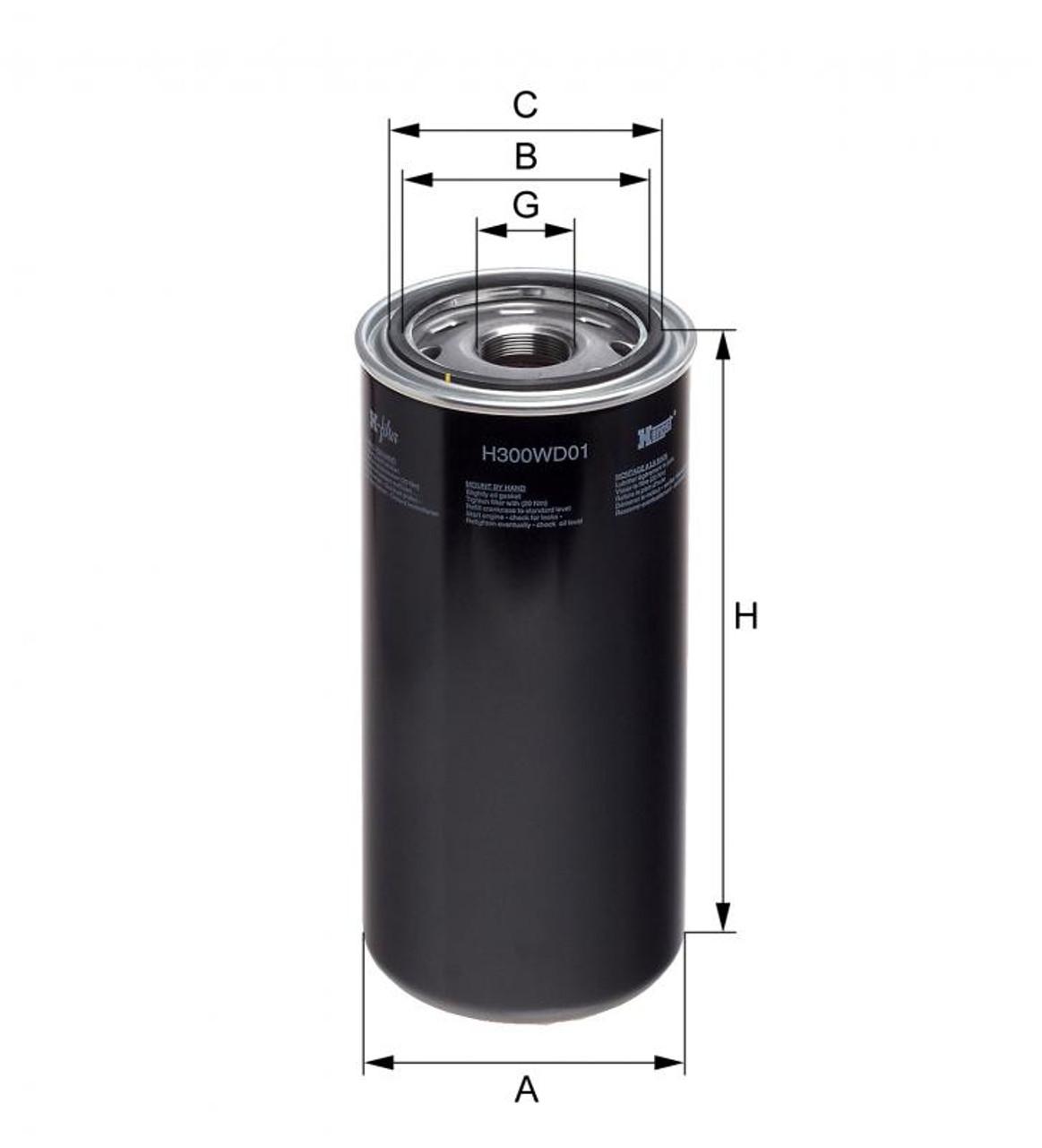 Oil Filter MTU#002 092 21 01