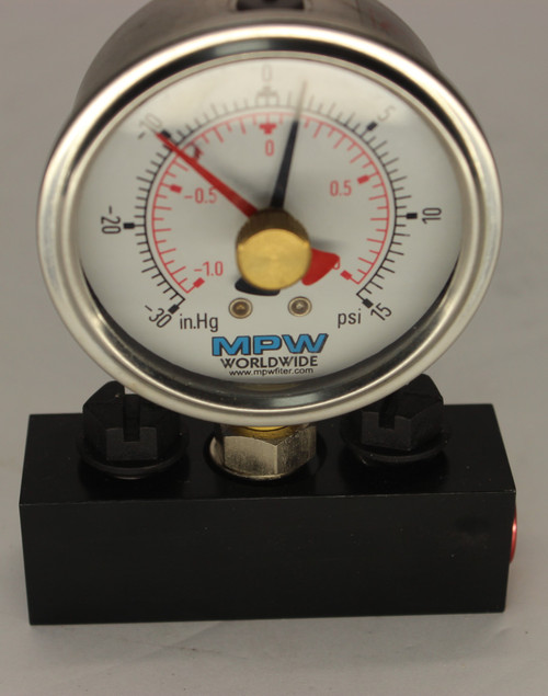 72694 Racor Plastic Differential Gauge 0-15 PSID Replacemnt