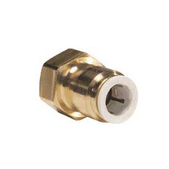 John Guest Female Flare Brass Adapter 1/4 Tube x 1/4 FL 5 C/T