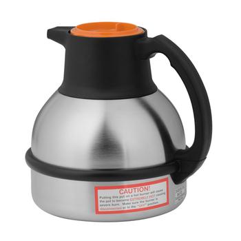 Bunn 1.9 Liter Orange/Steel Thermal Coffee Carafe