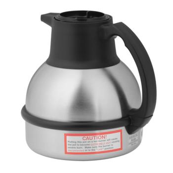 Bunn 1.9 Liter Black/Steel Thermal Coffee Carafe