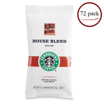 Starbucks House Blend Coffee Packets 72/CT 2.5 oz
