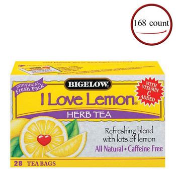 Bigelow I Love Lemon Herbal Tea 168 Bags