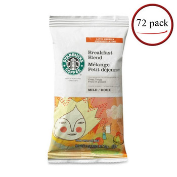 Starbucks Breakfast Blend Coffee Packets 72/CT 2.5 oz