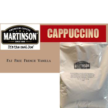 Martinson Fat Free French Vanilla Cappuccino Instant Cappuccino Mix 12 Lb