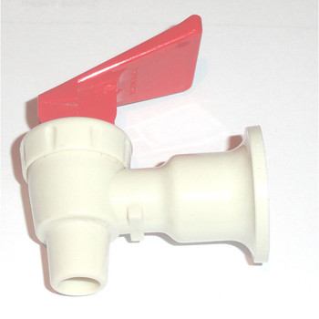 Water Cooler Faucet Assembly Beige Shaft Red Handle