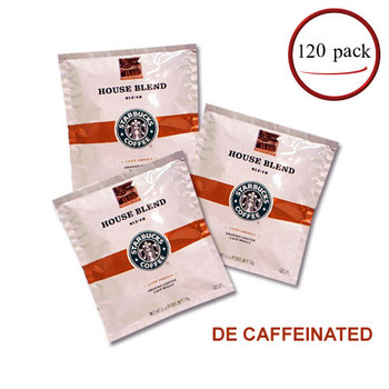 Starbucks House Blend Decaf Coffee Filter Packs 120/CT 1 oz