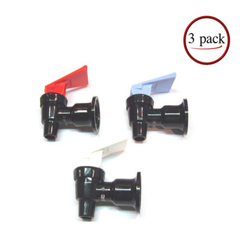 Sunbeam Black Water Cooler Faucet Assembly 3 Pk