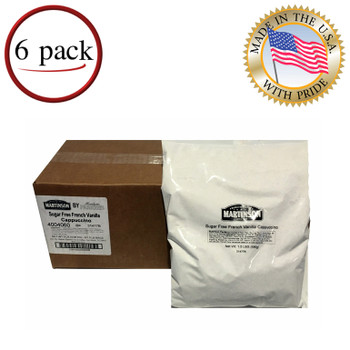 Martinson Sugar Free French Vanilla Instant Cappuccino  Mix 12 Lb
