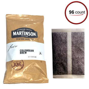 FAA Approved Martinson Colombian Brew Filter Pack Coffee 2 oz 96/CT