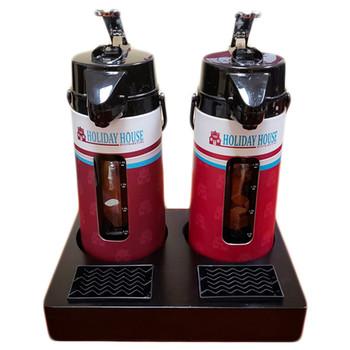 Thermal Airpot Black Bamboo 2 Pot Display Rack