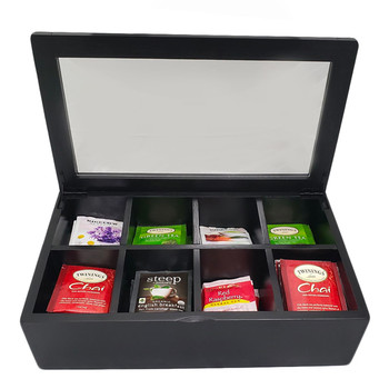 Black Bamboo 8 Selection Tea Box