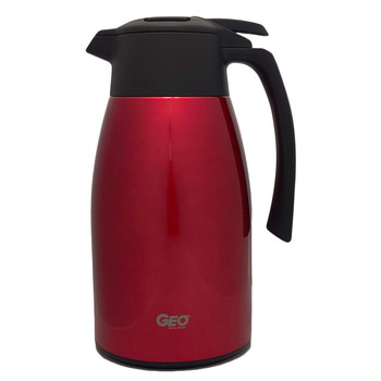 HHD 1.5 Liter Red Stainless Steel Carafe