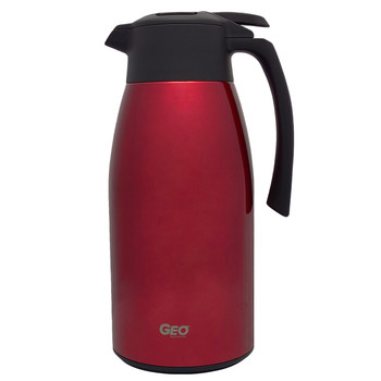 HHD 2.0 Liter Red Stainless Steel Carafe