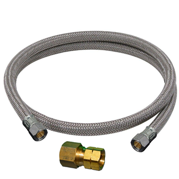 36 Inch Stainless Steel Braided Tubing 3/8 Compression x 1/4 Fe Flare